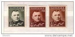 Slovaquie / Slovakia 1939 /42 - President Tiso  Michel Nr.67/68- (x+Y)  3v.-MNH - Slowakische Republik