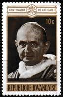 Timbre-poste Gommé Neuf** - Pape Paul VI Centenaire De Vatican I - N° 400 (Yvert) - République Rwandaise 1970 - Rwanda