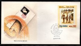 COLOMBIA- KOLUMBIEN- 1990. FDC/SPD. 150 YEARS OF FIRST POSTAL STAMP - Colombia