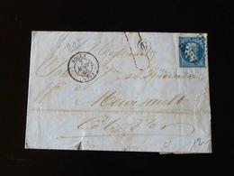 LETTRE DE ROUEN POUR MEURSAULT  -  1860  - - Marcophilie (Lettres)