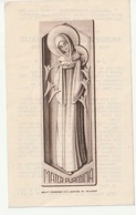 Doodsprentje Moeder Maria Nathalie (Cools) Liezele 1884 Klooster Zusters Ursulinen Puurs 1947 Imalit Maredret 555 A - Images Religieuses