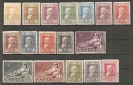 ESPAGNE - Yv. N° 412 à 428  Complet  **/*  Goya Cote 56 Euro BE   2 Scans - 1889-1931 Kingdom: Alphonse XIII