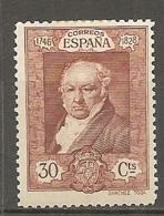 ESPAGNE - Yv. N°  419  *  30c  Goya Cote 5 Euro BE   2 Scans - 1889-1931 Kingdom: Alphonse XIII