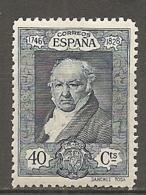 ESPAGNE - Yv. N°  420  *  40c  Goya Cote 5 Euro BE   2 Scans - 1889-1931 Kingdom: Alphonse XIII