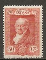 ESPAGNE - Yv. N°  421  *  50c  Goya Cote 5 Euro BE   2 Scans - 1889-1931 Kingdom: Alphonse XIII