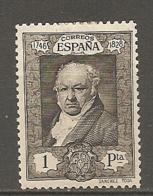 ESPAGNE - Yv. N°  422  *  1p  Goya Cote 8 Euro BE   2 Scans - 1889-1931 Kingdom: Alphonse XIII
