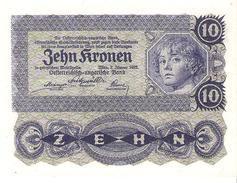 Austria - Pick 75 - 10 Kronen 1922 - AUnc - Austria