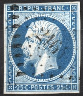 NAPOLEON  REPUBLIQUE N° 10a OB. PC 2161 MORGNY (EURE) IND.16 COTE> 120 € - 1852 Louis-Napoleon