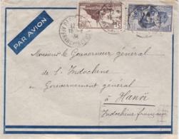 Cartier Et Mont Saint Michel Sur Lettre Pour Le Gouverneur Général De L'Indochine CaD De 1934 - Marcophilie (Lettres)