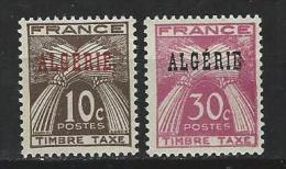 "Algerie Taxe YT 33 & 34 "" Gerbes "" 1947 Neuf** - Timbres-taxe"