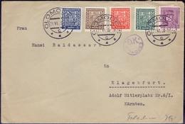 CZECHOSLOVAKIA - OLMOC 5 To KLAGENFURT Hitler Platz + Cenzur  Olmoc 2 D.K. - 1939 - Czechoslovakia