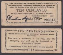 Philippines 10 Centavos 1943 (VF) Condition Banknote KM #S502 - Filippijnen