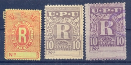 Colombia  3 Old Stamps R UPU Used - Colombie