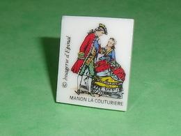 Fèves Personnages : Plaque , Manon La Couturière  , Fleur D'argile  T43 - Personnages