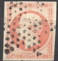 NAPOLEON  EMPIRE N° 16c SUR GRIS OB. ETOILE PARIS COTE > 45 € (Maury) - 1853-1860 Napoleon III