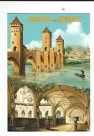 46 Cahors CPM Neuve Pont Valentré Cloitre Illustrateur KRIK Collection Privé - Cahors