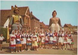 CHROMO FOLKLORE EN BELGIQUE & LUXEMBOURG VEGE ALBUM N° 3 N° 693 WETTEREN LES GEANTS GEANT REUZEN 13 X 9 CM - Chromos