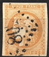 CERES BORDEAUX N° 43Ba BISTRE ORANGé OB GC TB COTE > 150 € - 1870 Bordeaux Printing