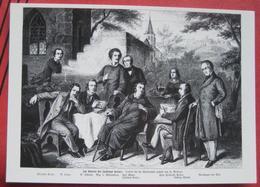 Künstlerkarte Im Garten Bei Justinus Kerner, Nikolaus Lenau, Ludwig Uhland - Scrittori