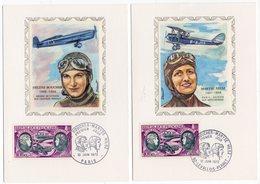 Carte Maximum 1972 - Hélène BOUCHER & Maryse HILSZ - YT PA 47 Du 10/06/1972 - 92 Levallois- Perret Et Paris (Réf 18-753) - Cartes-Maximum
