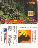 """PERU - Machu Picchu/Cuzco 2(puzzle 4/4, Reverse """"Banco Mercantil""""), Tirage 2000, Used - Peru"""