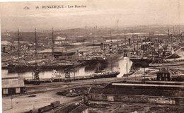 59 DUNKERQUE LES BASSINS BATEAUX TRAIN MARCHANDISES - Dunkerque