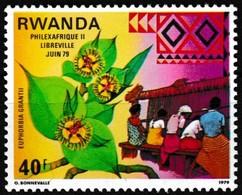 Série De 2 T.-P.neufs** - Philexafrique II Euphorbia Grantii Intelsat IV-A - 876-877 (Yvert) - République Rwandaise 1979 - Rwanda