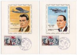 Carte Maximum 1973 - Henri Guillaumet  - Paul Codos- YT PA 48 Du 24/02/1973 - 51 Bouy & 02 Iviers (Réf 18-754) - Cartes-Maximum
