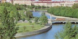 SVISLOCH EMBANKMENT MALECON DEL RIO SVISLOCH QUAI DE LA SVISLOTCH  RUSIA POSTAL COLOR -LILHU - Rusland
