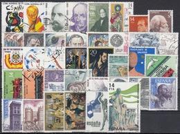 ESPAÑA 1982 Nº 2644/2684 AÑO USADO COMPLETO 37 SELLOS + 2 HB - España
