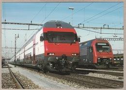 SBB - CFF Doppelstock-Pendelzug IC 2000 Am 28.2.1997 - Bahn - Trains - Railway - Trains