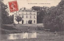 41 SELLES SUR CHER. CPA. LE CHATEAU DES NOUÏES. ANNEE 1907. ANIMATION - Selles Sur Cher