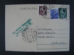 """ITALIA Interi-1946- """"Democratica"""" £. 2  US° (descrizione) - Interi Postali"""