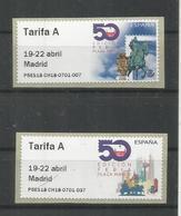 ESPAÑA ATM 50 FERIA NACIONAL DEL SELLO 2 TARIFA A PLAZA MAYOR  MAQUINA P5ES - 1931-Today: 2nd Rep - ... Juan Carlos I