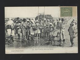CPA Départ Pour La Pêche Aux Huitres 95 Artaud Et Nozais Nantes 44 écrite 1917 TBE - Pêche