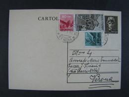 """ITALIA Luogotenenza Interi-1945- """"Turrita"""" £. 1,20 + Democratica US° (descrizione) - Interi Postali"""