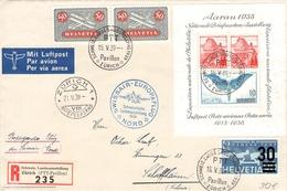 SCHWEIZ - SWISSAIR-EUROPAFLUG 1939 - Airmail