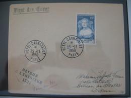 FDC  1950  N° 874 Madame De Sévigné  Retour à L'envoyeur 1721  à Voir - FDC