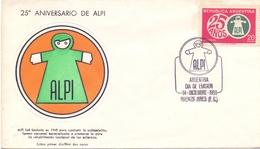ARGENTINA 25° ALPS  ANNIVERSARY (NOV180158) - FDC