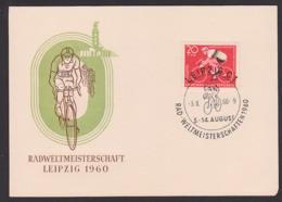 Roue De Coupe Du Monde Radweltmeisterschaften 1960 Maximumkarte Gedenkblatt Leipzig, Cycling World Championships - DDR