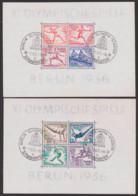 "Germany 1936 Bl. 5 Und 6, 11. Olympiade,  SoSt. ""Berlin Olympia-Station"" Deutsches Reich, Bl. 5 Ro. Bug - Blocchi"