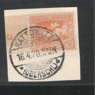 GERMANY1920:Oberschlesien Michel 20c On Piece Used - Allemagne