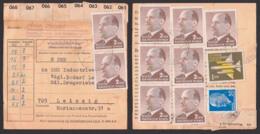 Lauterbach üb. Marienberg Paketschein über 8 Pakete, Gesamtporto 19,50, Frankiert Mit 2 MDN(9) Walter Ulbricht - [6] République Démocratique