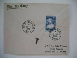 FDC  1950  N° 874 Madame De Sévigné  Taxée  à Voir - 1950-1959