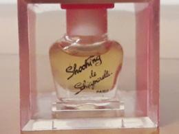 **Schocking** De SCHIAPARELLI Rare Parfum 1ml Boîte Plexi De3cm D'arête Bch Blanc - Vintage Miniatures (until 1960)