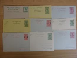 Belgisch Congo - Set Van 9 Briefkaarten - Ongebruikt - Postwaardestukken