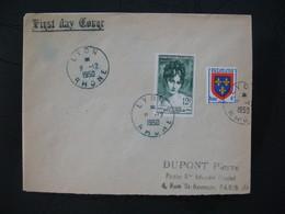 FDC  1950  N° 875  Madame Récamier  à Voir - FDC
