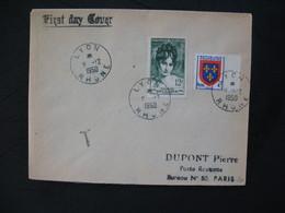 FDC  1950  N° 875  Madame Récamier  Taxée  à Voir - FDC