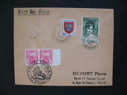 FDC  1950  N° 875  Madame Récamier  Avec Timbre Chiffre Taxe  à Voir - FDC