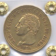 80 LIRE D'ORO 1826 TO - CARLO FELICE - REGNO DI SARDEGNA - Weitere Antike Münzen